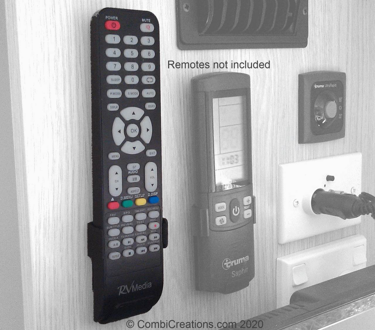 RV Media Remote Holder
